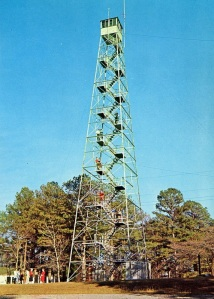 The fire tower that was up the road. (Undated Postcard (looks 50s to me) from the Ron Kemnow Collection)