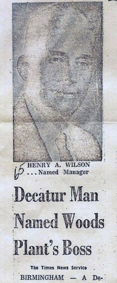 Maybe someday I'll find a better copy of this announcement that appeared in the Decatur Daily of Daddy's appointment as President of Birmingham Forest Products in 1969.