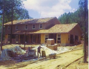 Photo of the Jasper house under construction on Quarry Hill Road in 1969