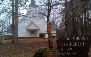 Just last February, Richard and I made a pilgrimage of sorts to see the church my parents built in the Bankhead National Forest. The town may be gone, but the church remains.