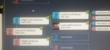 Screenshot from Ancestry.com showing my 31st great-grandmother