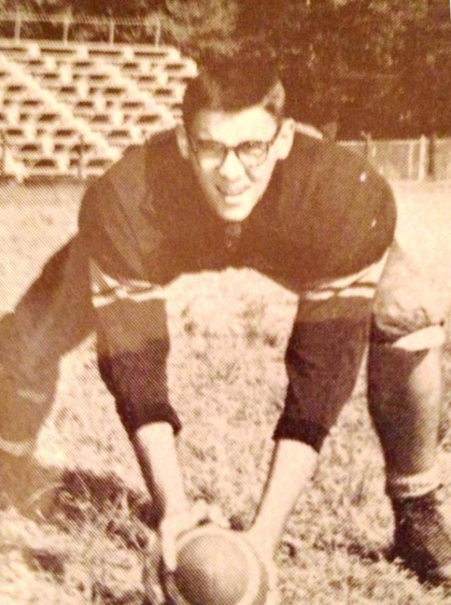 TBT: Allen Bird in about 1960 posing for the yearbook on the Century High School football field. Hopefully he'll forgive me for dredging this up!