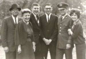 Ed and Mabel Bird and their three sons, Eddie, Allen and Sam (with Sam's wife, LeAnne) back in the days when we were all great friends.