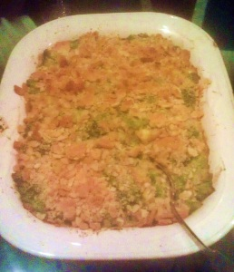Finished Green Bean Casserole a la George