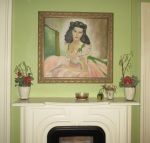 Vivien Leigh where she now hangs over a historic, haunted fireplace. I'm sure George is pleased!