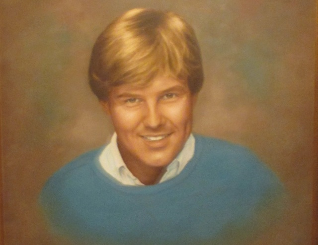 "This portrait of George ""Bud"" Falkenberry - a Christmas gift to his mother from his father the year he died - was sent to me by his sister, Anne Falkenberry Knight, for this profile."