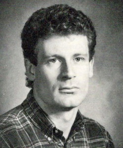 Yearbook shot of Peter Frazer in 1985 as an undergraduate studying Natural Sciences at Fordham University. It took me six months to find a photo of him for this profile, and my sincere thanks to the Fordham University library for their help.